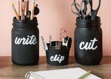 Mason-Jar-DIY-desk-organizers-clad-in-chalkboard-paint-217x155