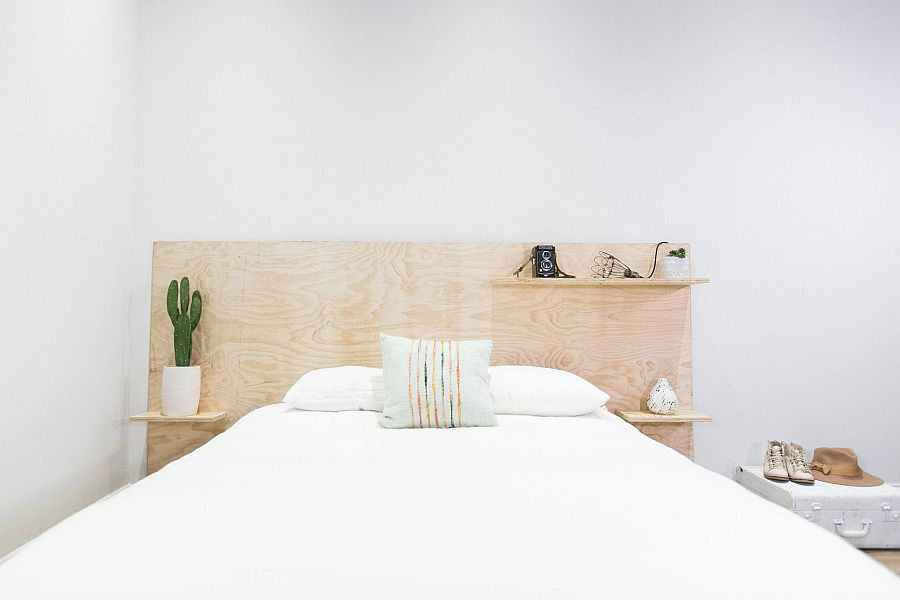 Minimal and easy-to-make DIY plywood headboard