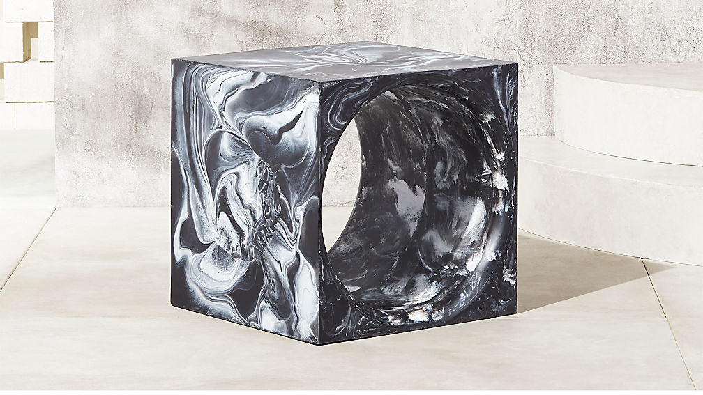 Modern swirl outdoor side table