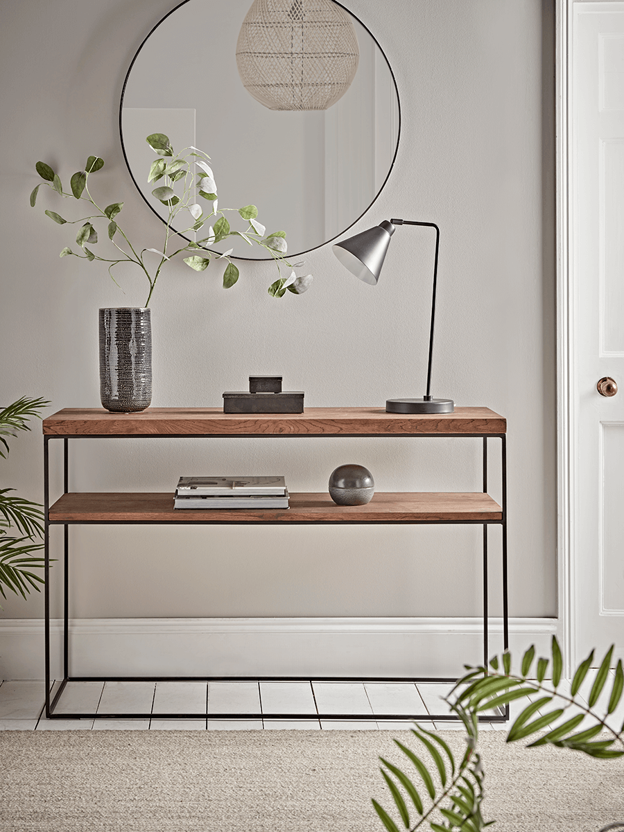 Modern wood and metal coffee table from Cox & Cox