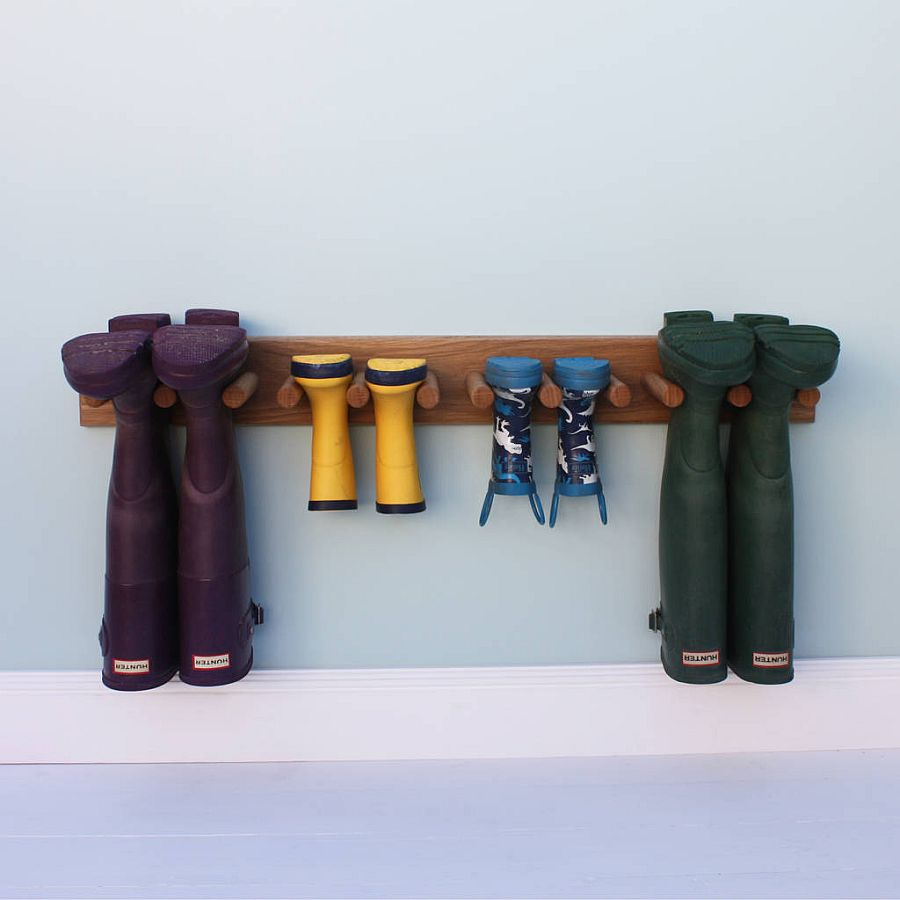 Oak Welly Rack offers perfect inspiration for a minimal shoe rack
