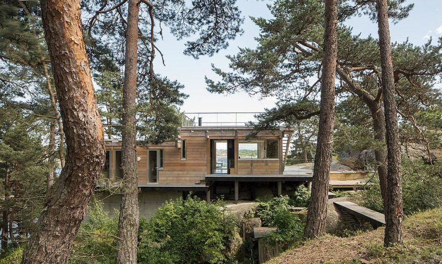 Cozy Modern Cottage on Norwegian Island Wraps You in Wood and Green