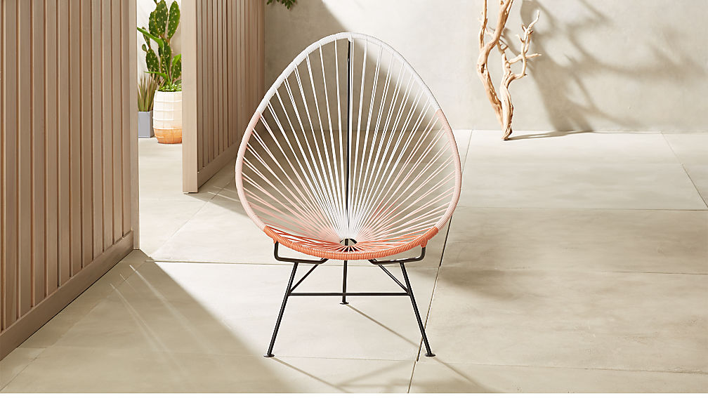 Pink Acapulco chair from CB2