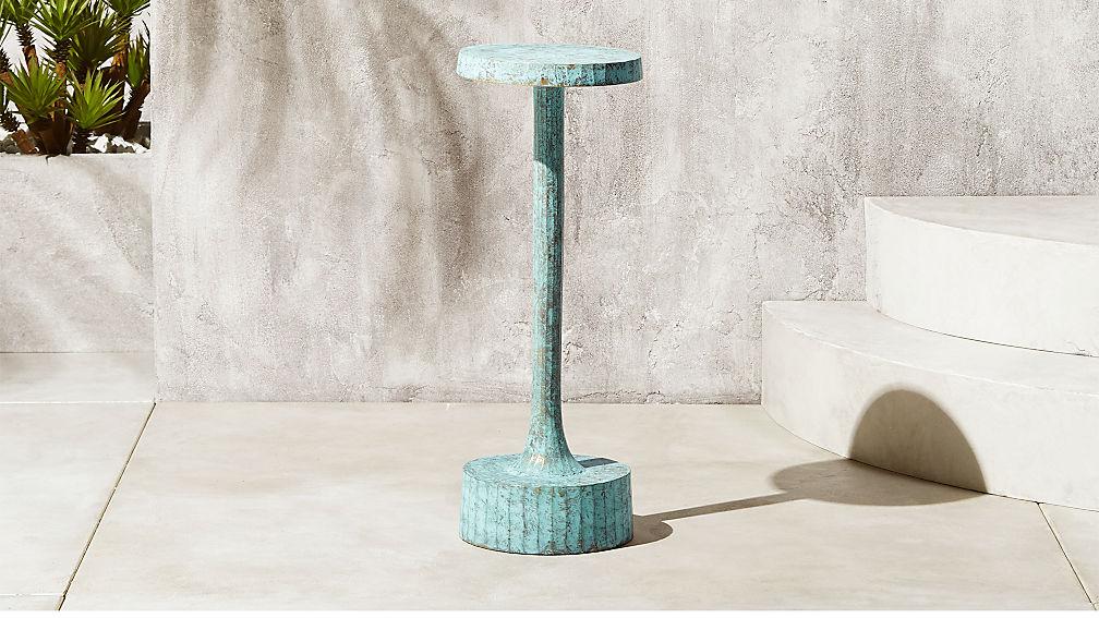 Sculptural modern side table
