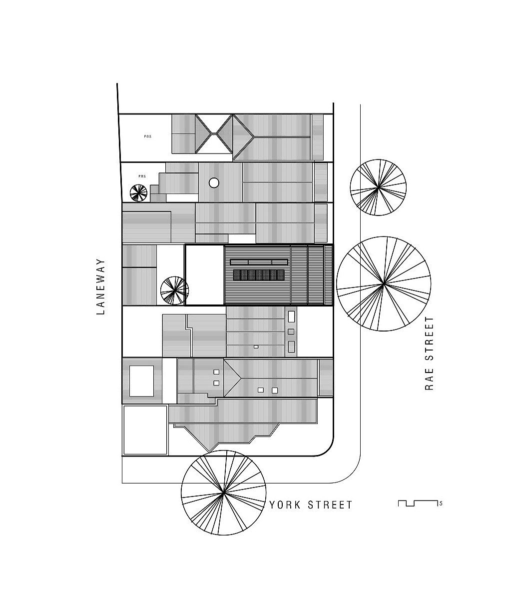 Site plan of Casa de Gatos in Australia