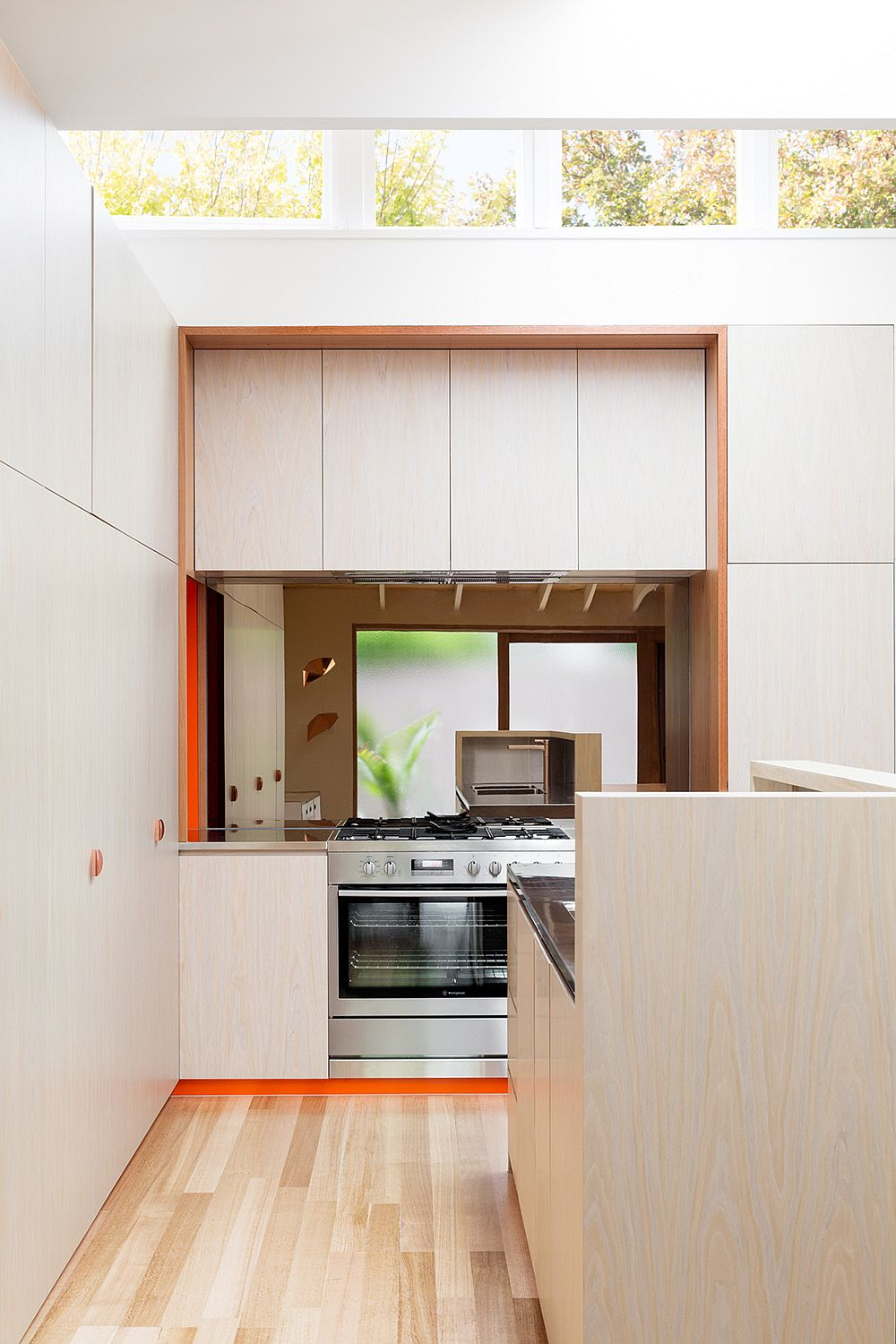 Smart use of clerestory windows to bring light into the kitchen