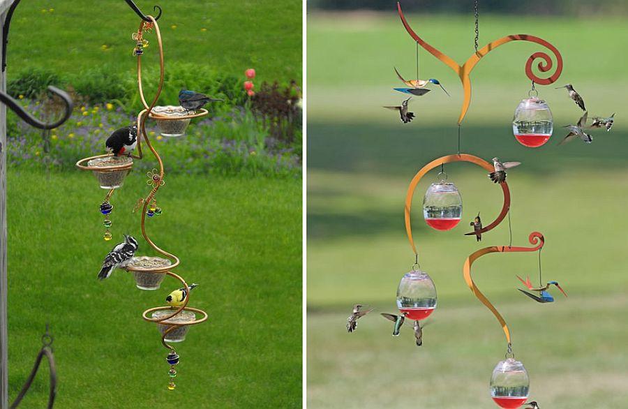 Spiral-style-DIY-bird-feeder-idea