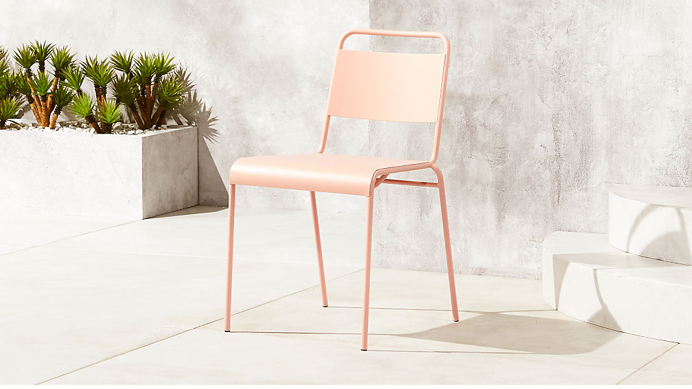 Stackable pink dining chair