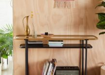 Three-tiered-metal-and-glass-console-table-217x155