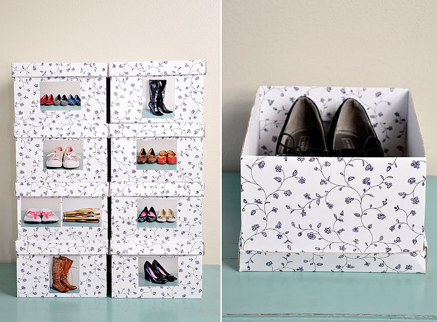Trendy and stylish shoe organization idea