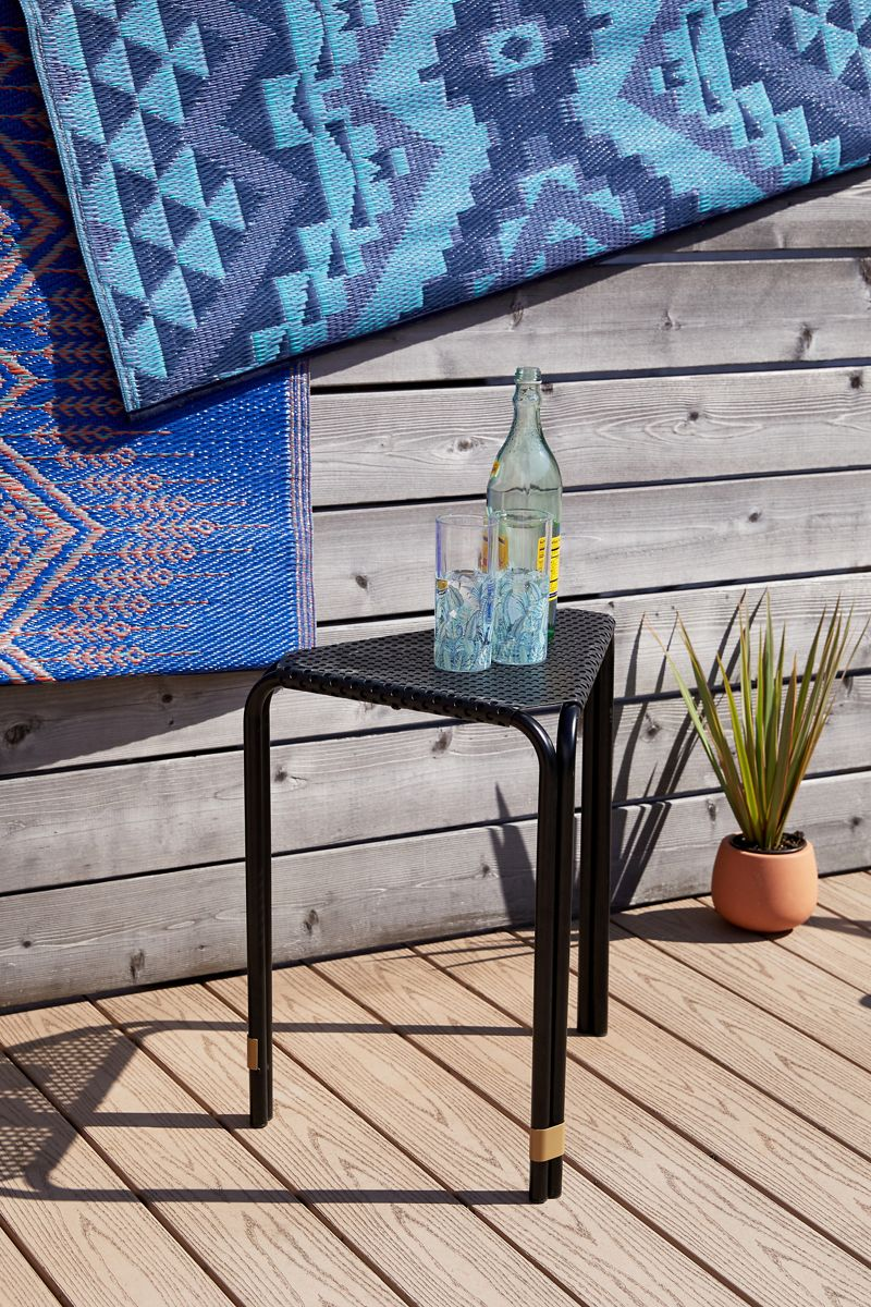 Triangular black side table