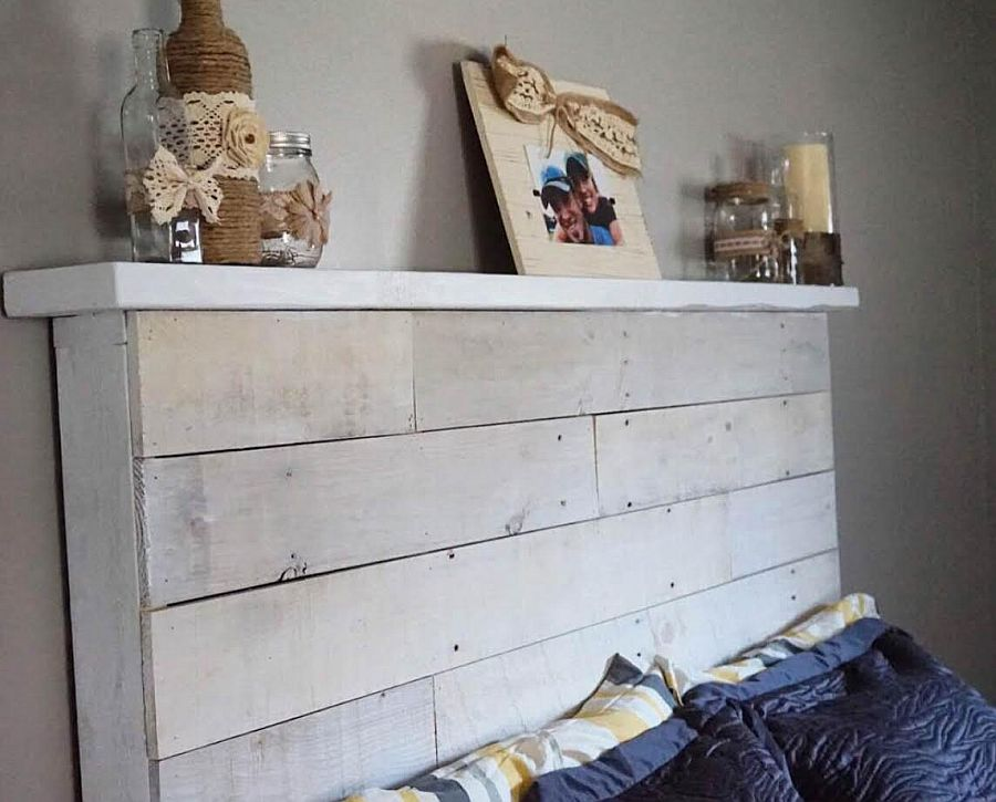 Turn those forgotten pallets into a snazzy headboard