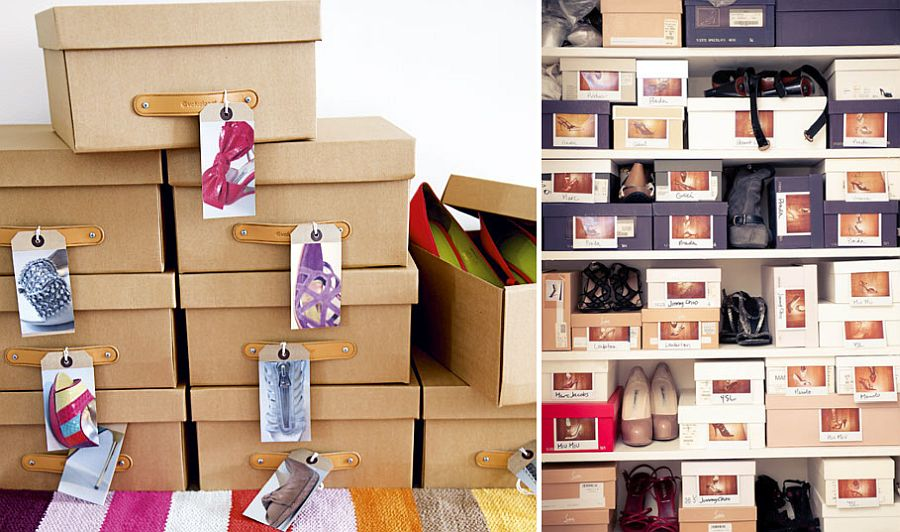 Using shoe boxes to create a smart shoe storage solution