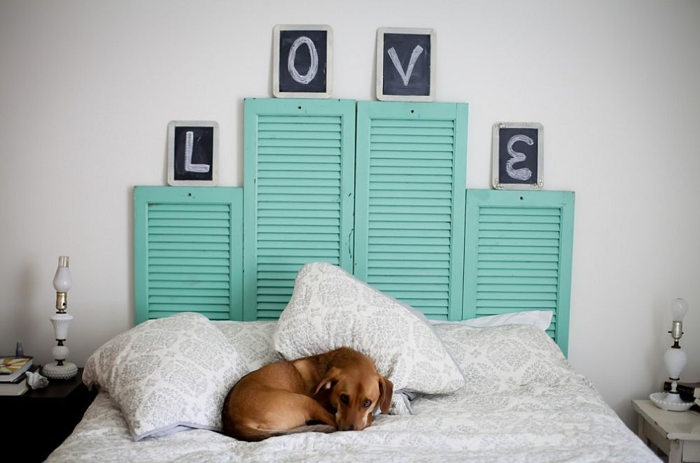 Vintage-shutters-transformed-into-cool-DIY-headboard-full-of-color