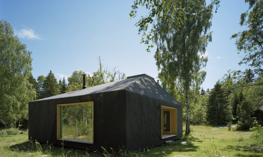 Small Summer House in Sweden Paints a Picture of Minimal Contrasts