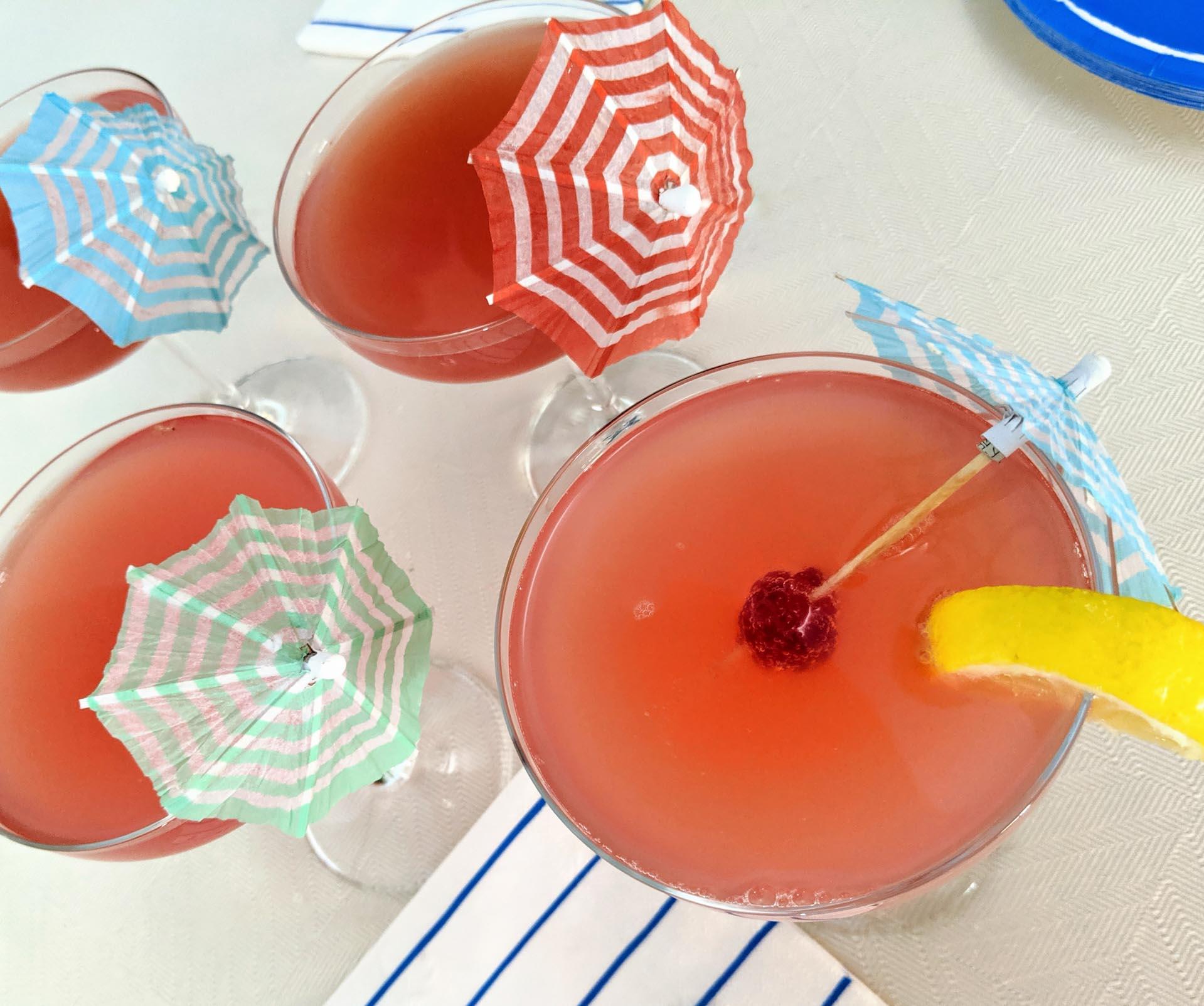 Blood orange mimosa cocktail