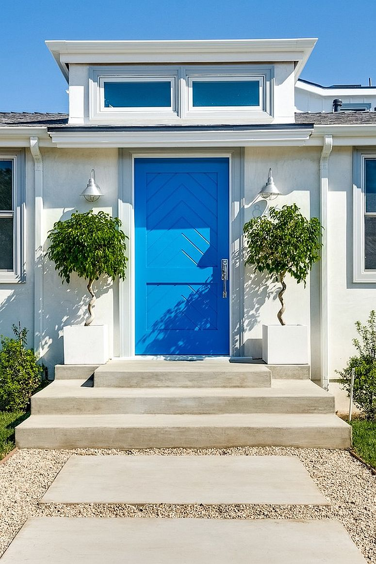 Right first impressions 30 trendy front doors to enliven for Palazzine moderne