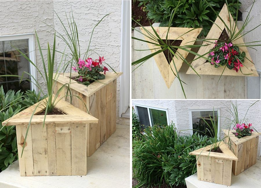 Chic DIY triangular planters idea