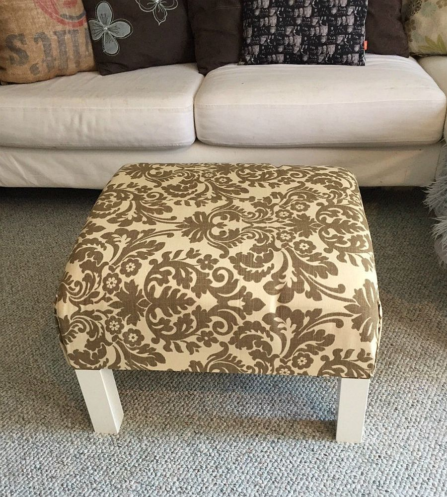 Coffee table ottoman IKEA Hack is easy to craft
