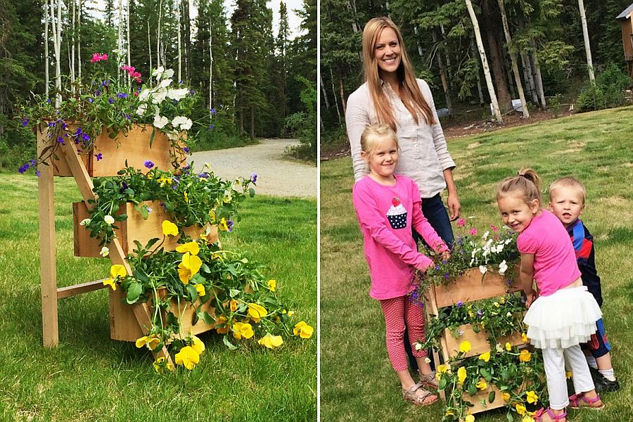 Craft your own Cedar Tiered Flower Planter