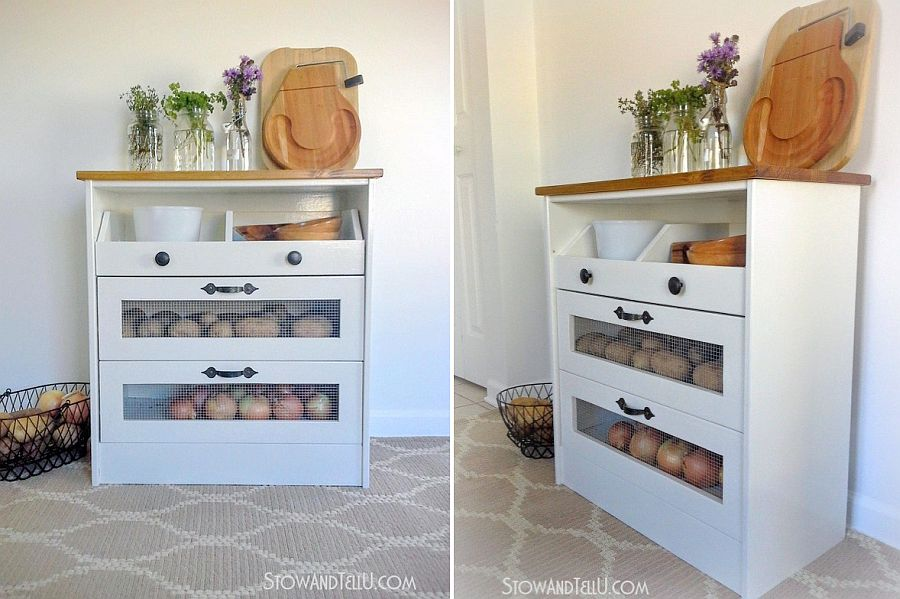 Craft your own potato and vegetable storage bin at home!