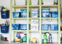 Create-a-custom-garage-storage-wall-using-shelves-bins-and-baskets-217x155
