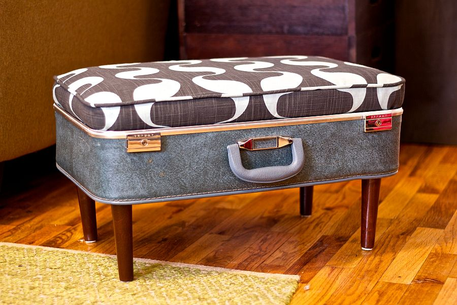 Create your own DIY suitcase ottoman