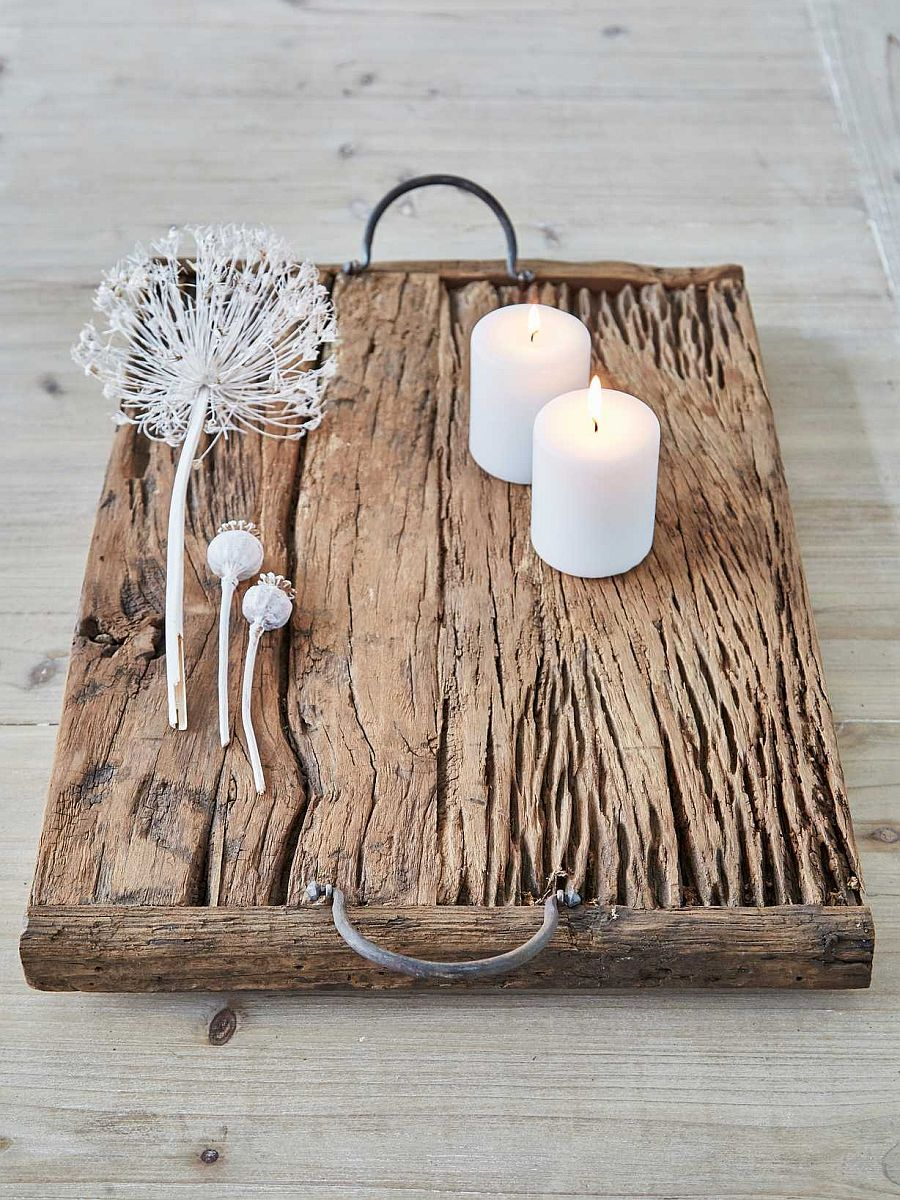 Create your own wooden serving tray in a simple fashion