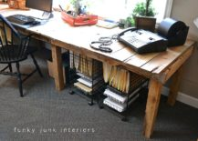 Custom-DIY-pallet-craft-table-is-super-affordable-to-create-217x155