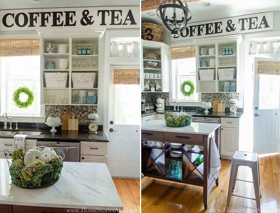 DIY farmhouse style vintage kitchen sign idea