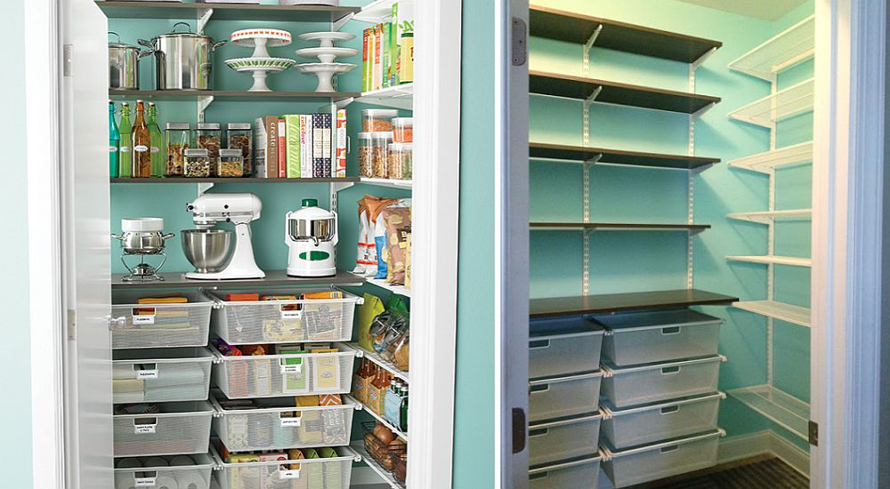 DIY organizational idea for the small and slim kitchen