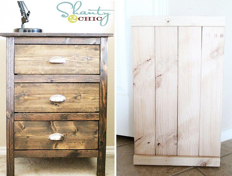 DIY reclaimed wood nightstands design