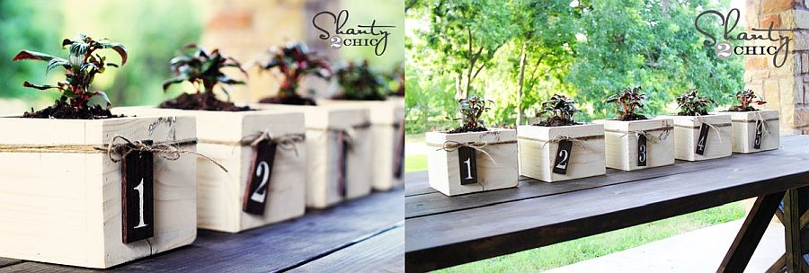 DIY wood boxes crafted from reclaimed wood