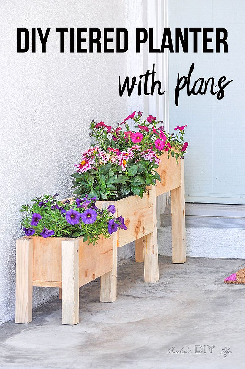 Dashing DIY tiered planter built for just $10