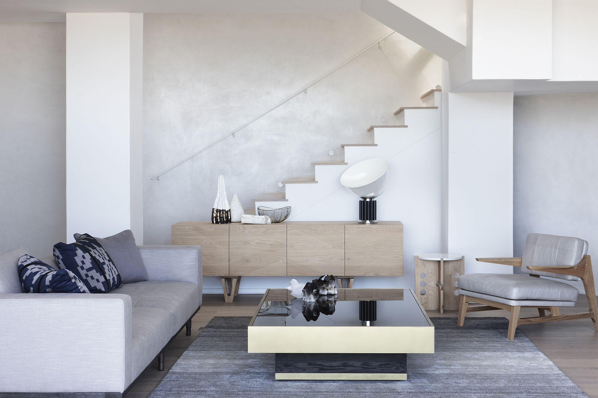 Decor inside the Cape Town house has a modern minimall appeal to it
