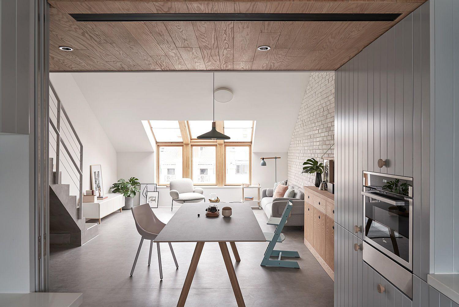 Dining area of the space-savvy Chinese apartment