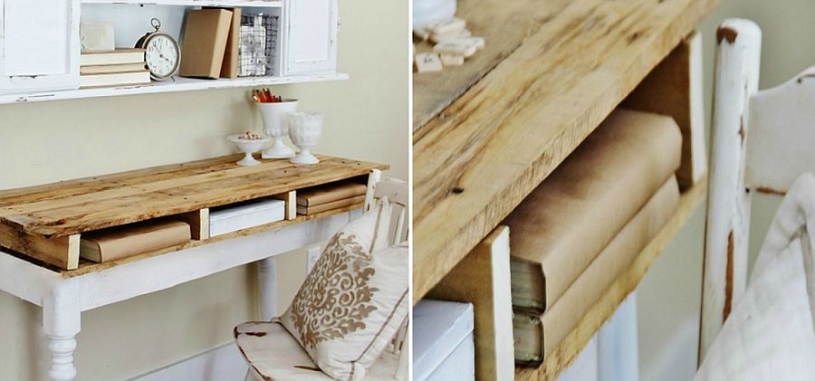 Easy DIY pallet desk idea