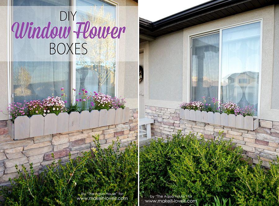 Elegant DIY window flower boxes
