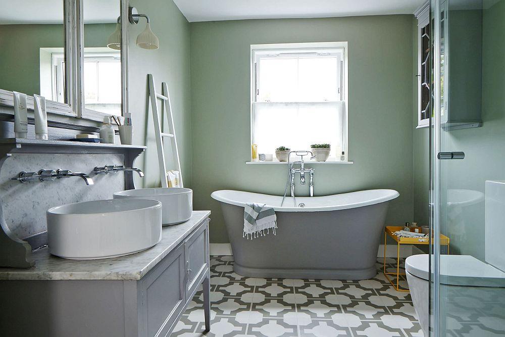Elegant-pastel-green-backdrop-for-the-contemporary-bathroom