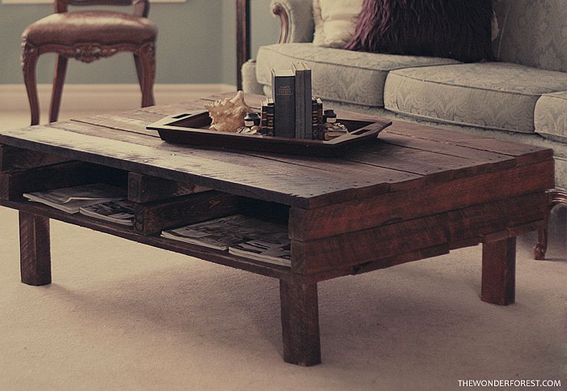 Fab DIY rustic coffee pallet table is a showstopper in every sense of the way