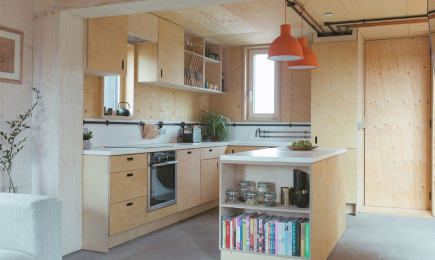 Flat-Pack Timber Boxes Create This Cost-Effective, Modular British Home