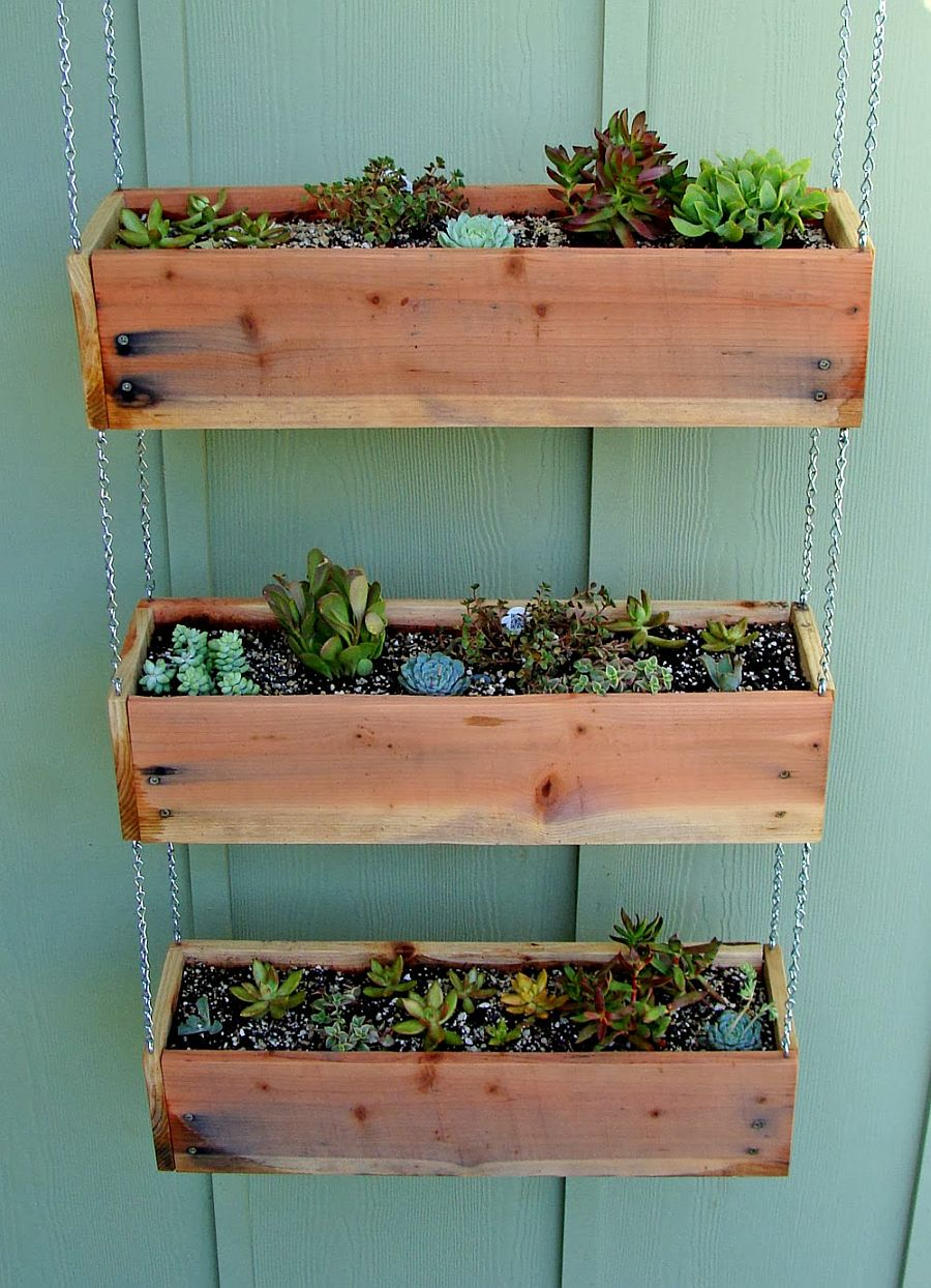 Fabulous tiered planter boxes idea