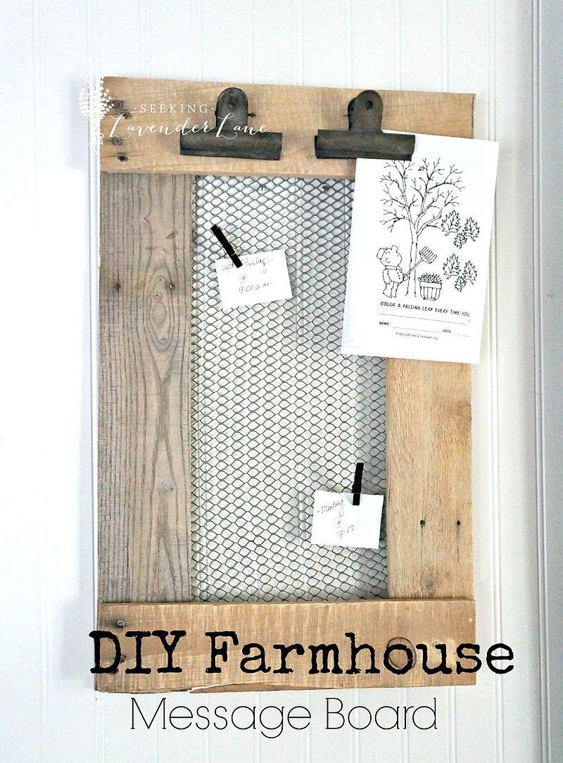 Farmhouse-style-DIY-message-board-idea