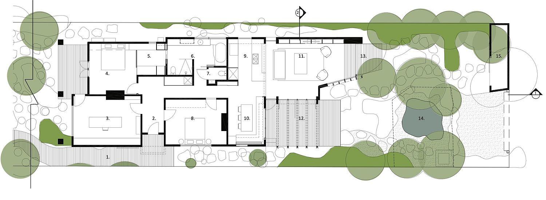 Floor-plan-of-the-renovated-Californian-Bungalow-in-Elwood
