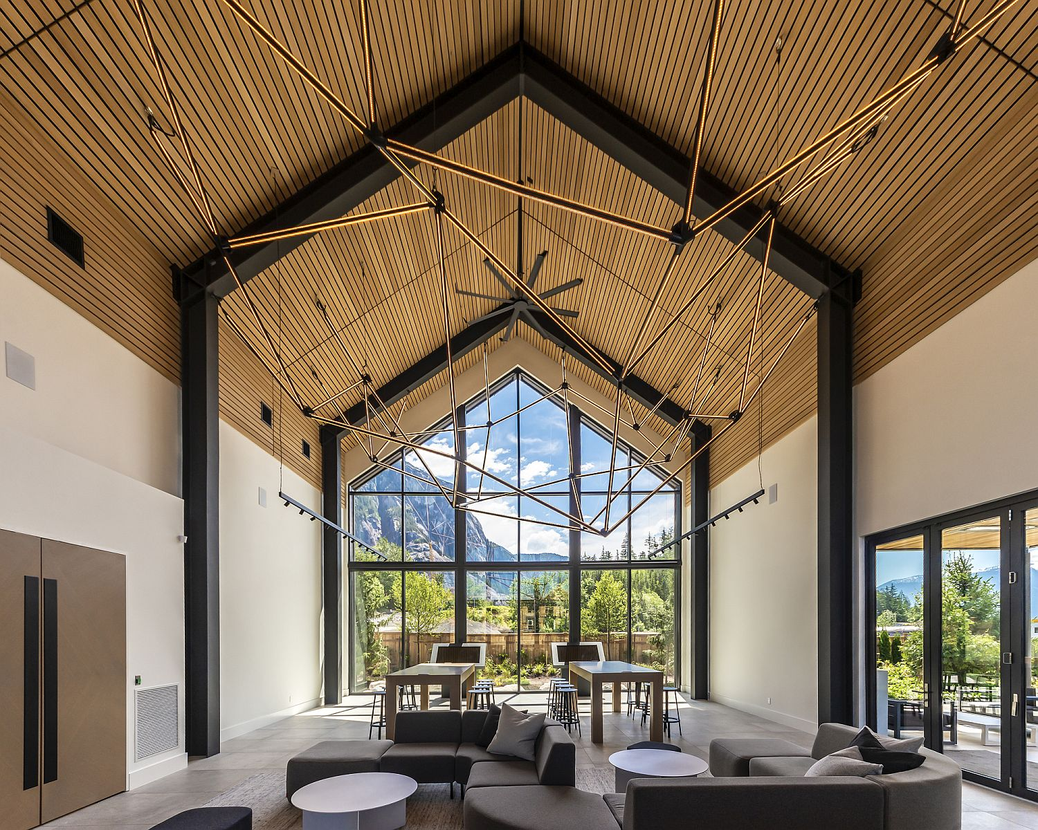 Gable-roofs-and-stunning-interior-of-the-captivating-Sea-and-Sky-Centre