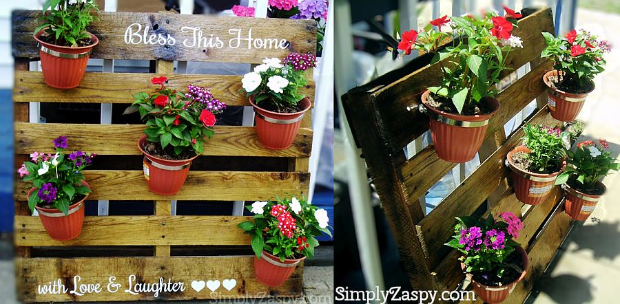 Gorgeous DIY Pallet PLanter Idea