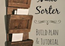 Gorgeous-and-simple-DIY-wooden-mail-sorter-made-from-reclaimed-wood-217x155
