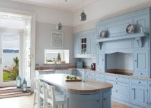 Gorgeous-farmhouse-style-kitchen-with-light-blue-cabinets-and-island-217x155