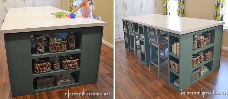 Large craft table DIY idea