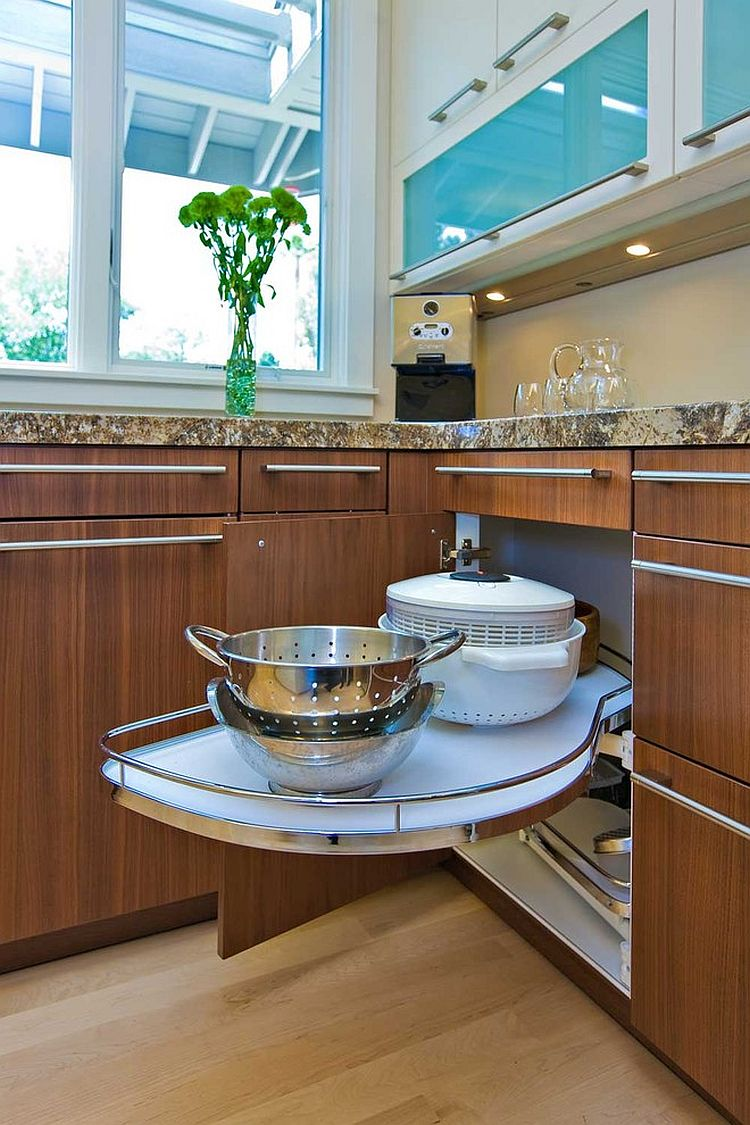 Lazy Susan is a great way to maximize the corner potential